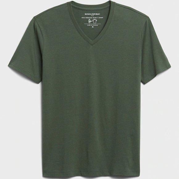 Banana Republic Eco Premium Wash V-Neck T-Shirt